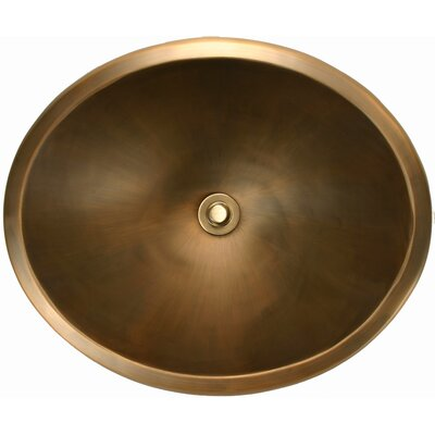 Smooth Oval Undermount Bathroom Sink Finish: Antique Bronze