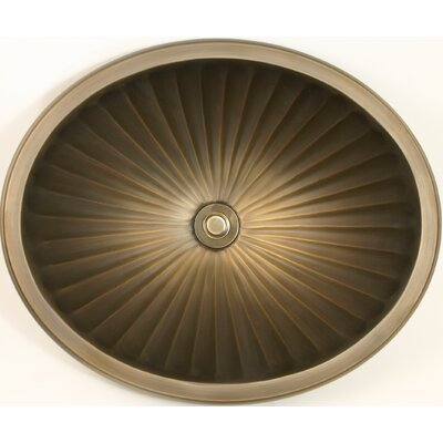 Bronze Self Rimming Bathroom Sink Finish: Antique Bronze