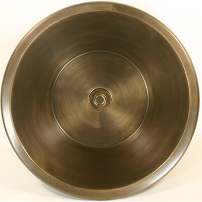 Flat Bottom Circular Undermount Bathroom Sink Finish: Antique Bronze