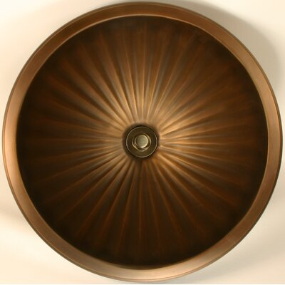 Fluted Metal Circular Undermount Bathroom Sink Finish: White Bronze