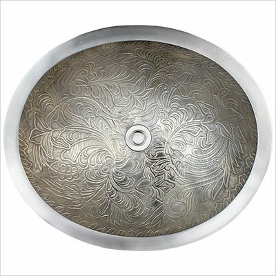 Botanical Oval Vessel Bathroom Sink Finish: White Bronze