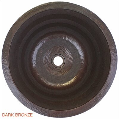 Striped Self Rimming Bathroom Sink Finish: Dark Bronze