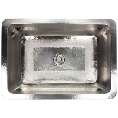 Stripes Metal Rectangular Undermount Bathroom Sink Finish: Satin Nickel