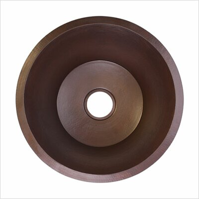 16 x 16 Small Flat Round Bar Sink Finish: Dark Bronze
