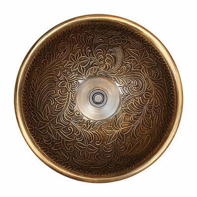 Metal Circular Vessel Bathroom Sink Finish: Antique Bronze