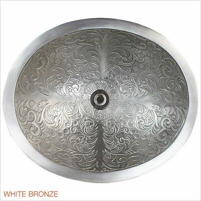 Brocade Metal Oval Drop-In Bathroom Sink Finish: White Bronze