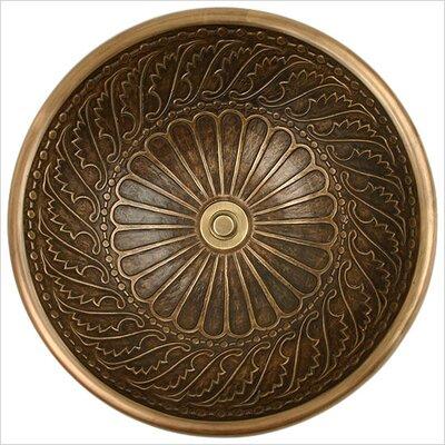 Wing Metal Circular Drop-In Bathroom Sink Finish: Antique Bronze