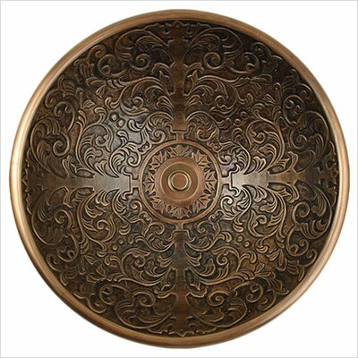 Brocade Circular Vessel Bathroom Sink Finish: Antique Bronze