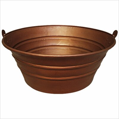 Bucket Circular Vessel Bathroom Sink Finish: Weathered Copper
