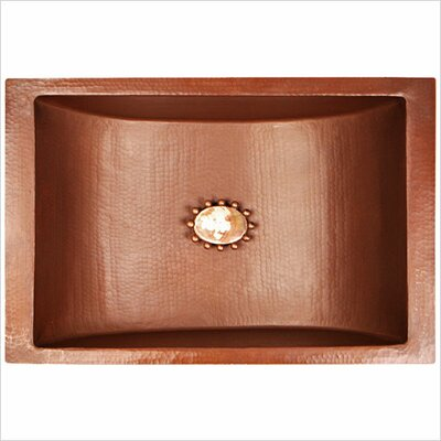 Crescent Self Rimming Bathroom Sink Finish: Weathered Copper