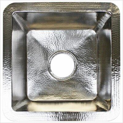 20 x 20 Large Square Bar Sink Finish: Satin Nickel
