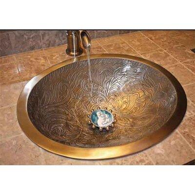 Botanical Oval Vessel Bathroom Sink Finish: Antique Bronze
