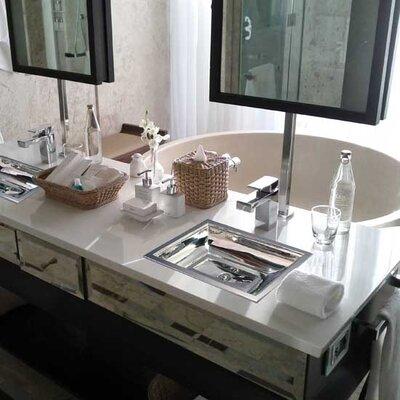Vintage Jeweler Tiffany Rectangular Undermount Bathroom Sink Finish: Polished Nickel