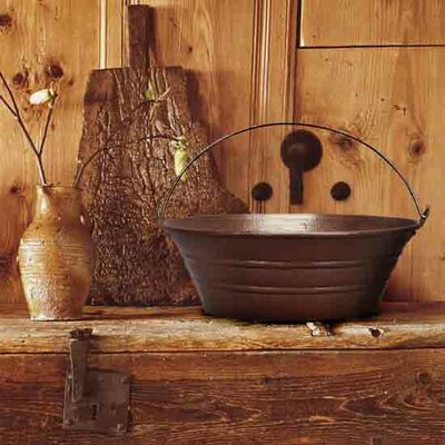 Bucket Circular Vessel Bathroom Sink Finish: Dark Bronze
