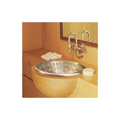 Pantheon Metal Circular Drop-In Bathroom Sink Finish: White Bronze