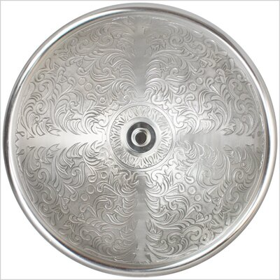 Brocade Circular Vessel Bathroom Sink Finish: White Bronze