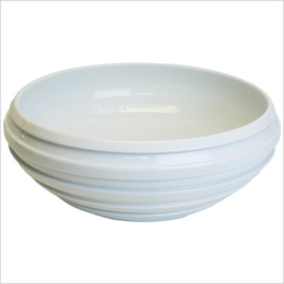 Ceramic Circular Vessel Bathroom Sink Finish: White Glaze