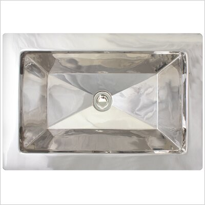 Facet Rectangular Undermount Bathroom Sink Finish: Polished Nickel