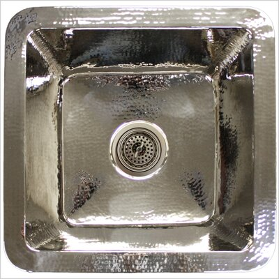 20 x 20 Large Square Bar Sink Finish: Polished Nickel