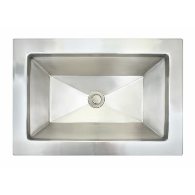 Facet Metal Rectangular Drop-In Bathroom Sink Finish: Satin Nickel