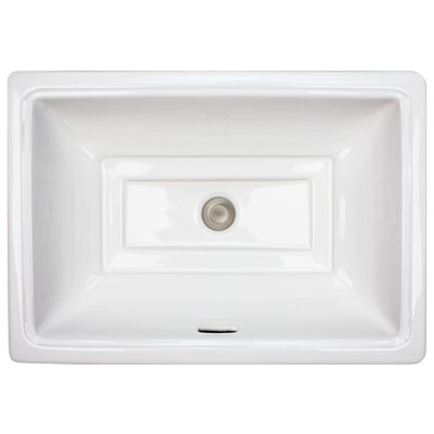 Tiffany Rectangle Undermount Bathroom Sink with Overflow