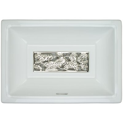 Porcelain Leaves Grate Undermount Bathroom Sink with Overflow Finish: Polished