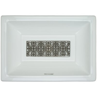 Porcelain Hawaiian Quilt Grate Undermount Bathroom Sink with Overflow Finish: Polished