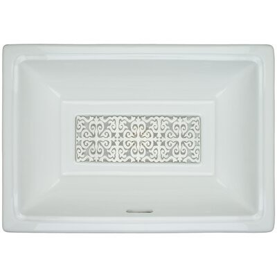 Porcelain Hawaiian Quilt Grate Undermount Bathroom Sink with Overflow Finish: Satin