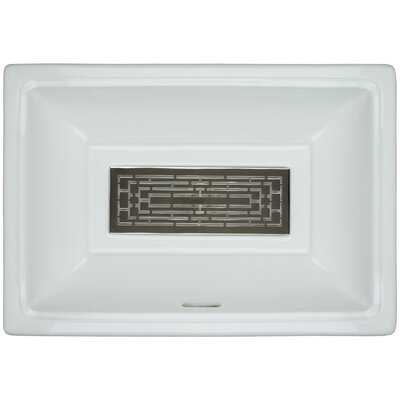 Porcelain Labyrinth Grate Undermount Bathroom Sink with Overflow Finish: Polished