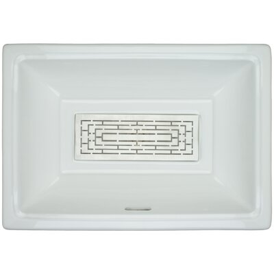 Porcelain Labyrinth Grate Undermount Bathroom Sink with Overflow Finish: Satin