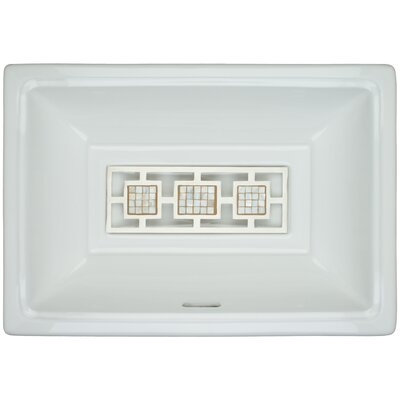 Porcelain Mosaic Triptych Grate Undermount Bathroom Sink with Overflow Finish: Satin
