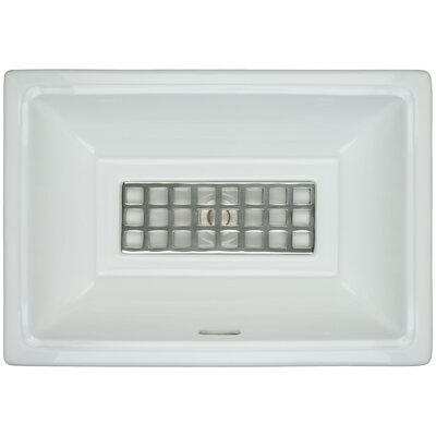 Porcelain Windows Grate Undermount Bathroom Sink with Overflow Finish: Polished