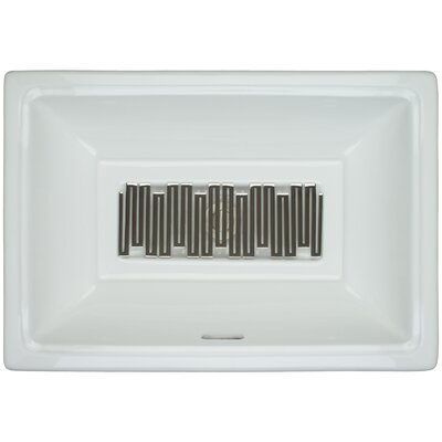 Porcelain Wave Grate Undermount Bathroom Sink with Overflow Finish: Polished