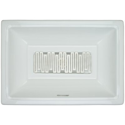 Porcelain Wave Grate Undermount Bathroom Sink with Overflow Finish: Satin
