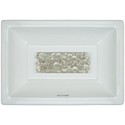 Porcelain Satin Coral Undermount Bathroom Sink with Overflow