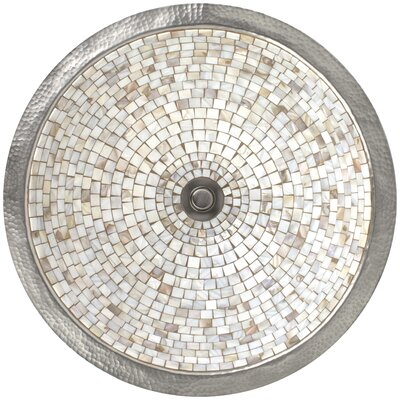 Mosaic Circular Undermount Bathroom Sink