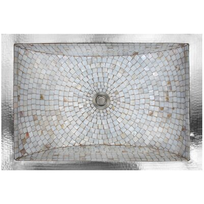 Mosaic Metal Rectangular Undermount Bathroom Sink