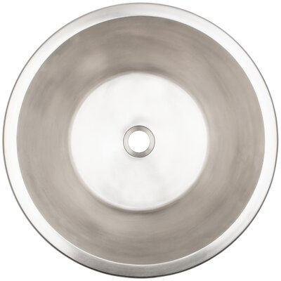 Flat Bottom Circular Undermount Bathroom Sink Finish: White Bronze
