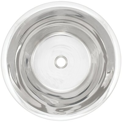 Flat Bottom Metal Circular Undermount Bathroom Sink Finish: Polished Nickel
