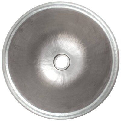 Rim Metal Circular Drop-In Bathroom Sink Finish: Satin Nickel