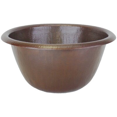 Rim Circular Vessel Bathroom Sink Finish: Weathered Copper