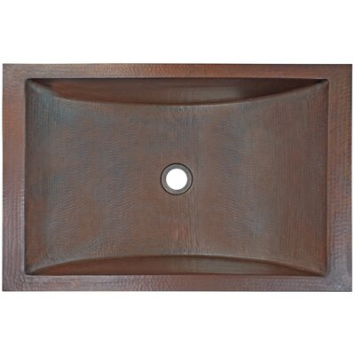 Crescent Metal Rectangular Drop-In Bathroom Sink Finish: Dark Bronze