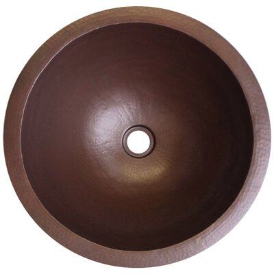 Small Circular Undermount Bathroom Sink Finish: Dark Bronze