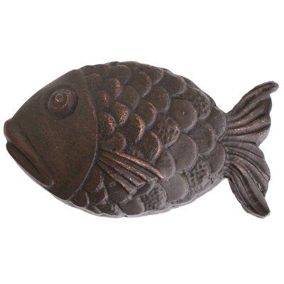 Large Fish 3 Grid Bathroom Sink Drain Finish: Dark Bronze, Installation Method: No Overflow
