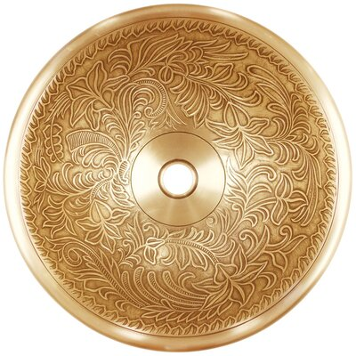 Metal Circular Vessel Bathroom Sink Finish: Vintage Brass