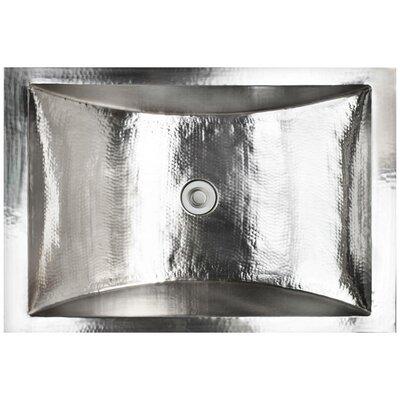 Crescent Metal Rectangular Drop-In Bathroom Sink Finish: Stainless Steel