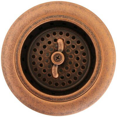 3.25 Push And Lock Kitchen Sink Drain Finish: Weathered Copper
