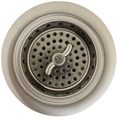 3.25 Push And Lock Kitchen Sink Drain Finish: Satin Nickel