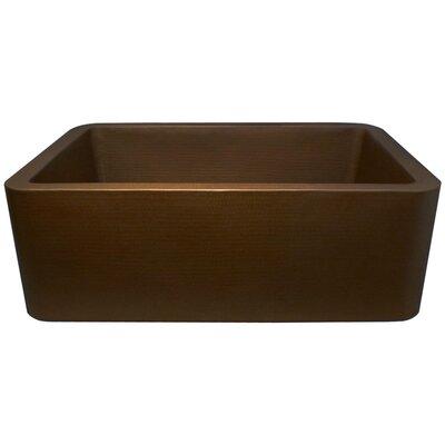 25 x 20 Single Bowl Farmhouse Kitchen Sink Finish: Dark Bronze