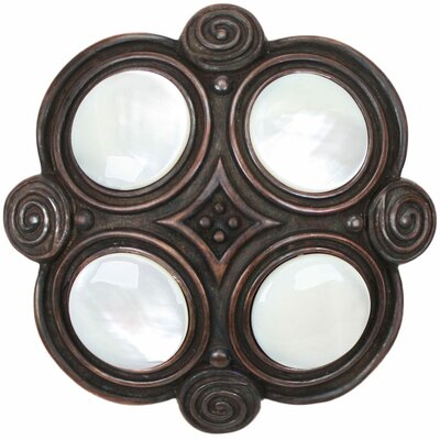 Quad Moonstone Grid Shower Drain Finish: Dark Bronze, Overflow: Yes